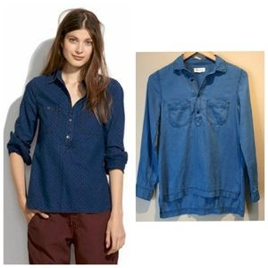 MADEWELL cotton chambray popover shirt